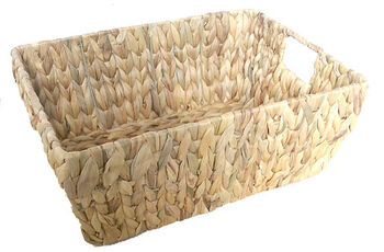 Organizing Essentials Rectangle Water Hyacinth Basket