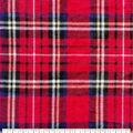 Anti-Pill Plush Fleece Fabric-Red & Navy Plaid