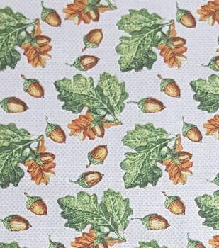 Harvest Cotton Fabric-Harvest Acorn On Cream