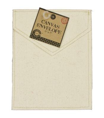 "Canvas Vertical Envelope 5""X7""-Natural"