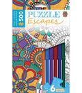 Masterpieces 14\u0022x19\u0022 500 Piece Adult Coloring Jigsaw Puzzle