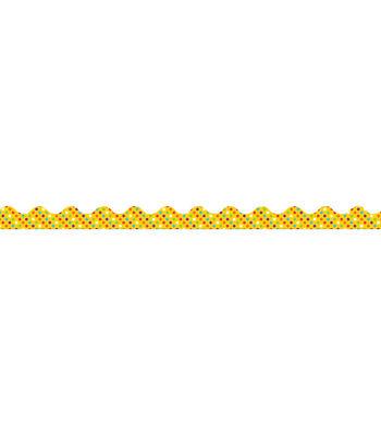 Eureka School Deco Trim-Toucan Polka Dot