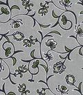 Quilter\u0027s Showcase Fabric -Green & Navy Floral Vines