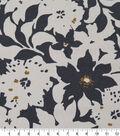 Robert Allen @ Home Print Swatch 55\u0022-Artful Flora Charcoal