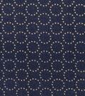 Patriotic Cotton Fabric 43\u0027\u0027-Metallic Star Circles on Blue