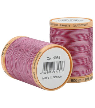 Gutermann Natural Cotton Thread 800M (876 Yards)-Variegated Colors