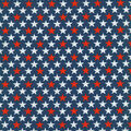 Patriotic Cotton Fabric -Bold Stars