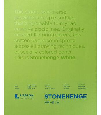 Stonehenge 15-sheet 11''x14'' 90 lbs. Paper Pad -White