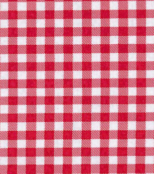 Med Gingham Red