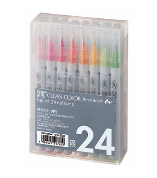 Zig 24pcs Clean Color Real Brush Markers
