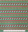 Doodles Christmas Interlock Cotton Fabric 57\u0022-Candy Cane Stripes