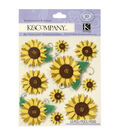 K&Company 10 pk Sunflowers Embellishment Dimensionals Stickers