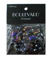 hildie & jo Boulevard 55 pk Mixed Glass Beads-Purple Iridescent, , hi-res