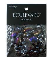 hildie & jo Boulevard 55 pk Mixed Glass Beads-Purple Iridescent, , hi-res