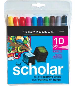 Prismacolor Scholar Brush Marker 10/Pk-