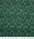 Christmas Glitter Cotton Fabric-Green Pinecones & Fir