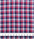 Plaiditudes Brushed Cotton Fabric-Navy, Red & Blue Plaid