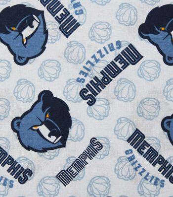 Memphis Grizzlies Cotton Fabric -Logo Toss