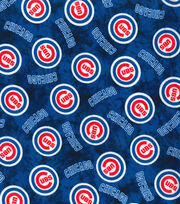 Chicago Cubs Flannel Fabric-Tie Dye, , hi-res