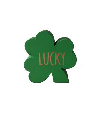 St. Patrick's Day Shamrock Word Block-Lucky
