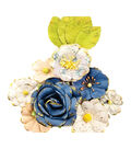 Prima Marketing Georgia Blues Mulberry Paper Flowers 12/Pkg-Monroe