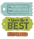 Sizzix Framelits Dies with Stamps-Tag Sentiments #1