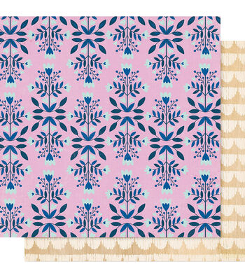 """Maggie Holmes Willow Lane Double-Sided Cardstock 12""""X12""""-Flowerpatch"""