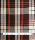 Perfectly Plaid Rayon Fabric -Brown Orange