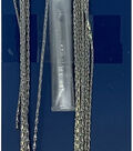 Blue Moon Beads Chain, Snake, 1mm, Ox Silver
