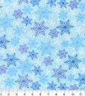 Snuggle Flannel Fabric 42\u0027\u0027-Blue & Purple Snowflakes