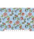 Snuggle Flannel Fabric 42\u0022-Blooming Flowers Light Blue