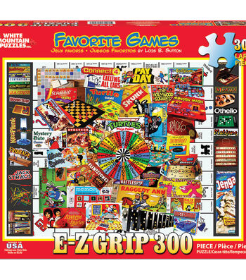 White Mountain Puzzles 300 Pieces 18''x24'' Jigsaw Puzzle-Favorite Games