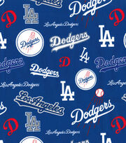 Los Angeles Dodgers Cotton Fabric 58 Mascot Logo Joann
