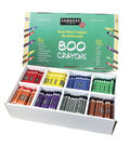 Sargent Art Best-Buy Crayon Assorted, Std Size, 800 ct