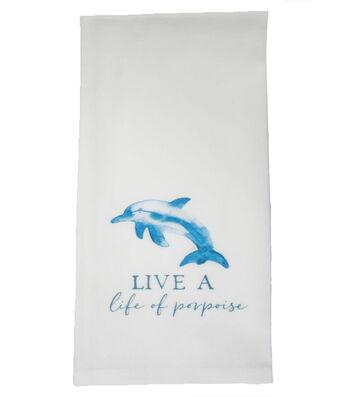 Indigo Mist Life of Porpoise Towel