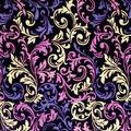 Silky Velvet Burnout Fabric-Multi Swirls
