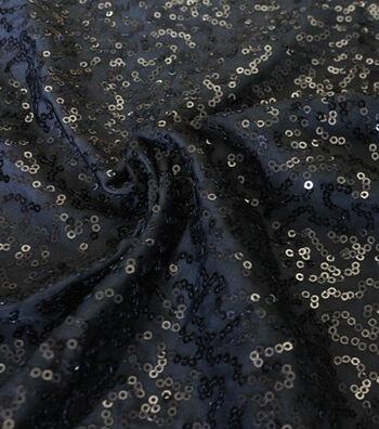 Sequin Fabric -Black