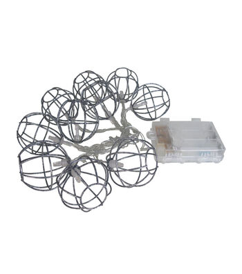 Seaport 65'' Galvanized Ball String Lights