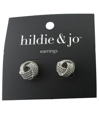 hildie & jo Knot Silver Earrings