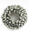Blooming Holiday Christmas 24\u0027\u0027 PVC Flocked Pine Wreath