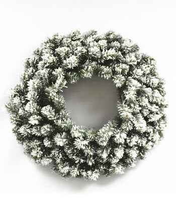 Blooming Holiday Christmas 24'' PVC Flocked Pine Wreath