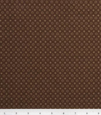 Keepsake Calico Cotton Fabric -Lined Dot Brown