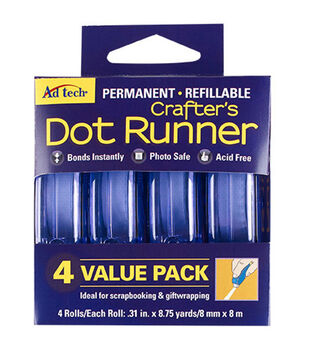 Adhesive Technologies 4 pk Permanent Crafter's Dot Runners