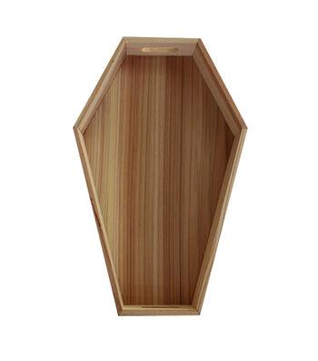 "Maker's Halloween Wood Décor-14"" Coffin Tray"