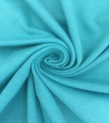 Doodles Cotton Interlock Fabric-Turquoise