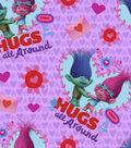 Valentine\u0027s Day Fabric -Trolls Hugs All Around