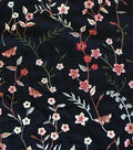 Silky Rayon Fabric 56\u0022-Vine Floral