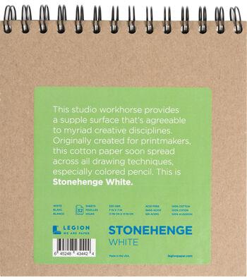 Stonehenge 32-sheet 7''x7'' 90 lbs. Spiral Paper Pad-White