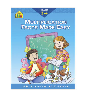 Curriculum Workbooks 32 Pages-Multiplication Facts Grades 3-4