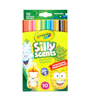 Crayola Silly Scents Fine Line Markers 10/Pkg, , hi-res